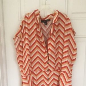 Plus Size Chevron Shirt Dress